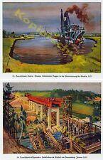 Reichsautobahn Stettin Baggerschiff Oder Brückenbau RAB Braunsberg Braniewo 1935