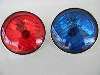 Harley Pursuit Lamps Passing AuxillaryTouring FLHP FLHTP Red/Blue Lamps