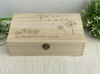 Dandelion Blowing Design Memory Box - Personalised Storage Trinket Gift