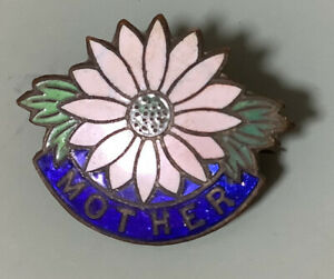 Vintage Mother Badge / Pin - Very Good Condition - Chrysanthemum