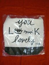 YOU LOOK LOVELY BELK CANVAS TOTE/BEACH BAG NEW W/T