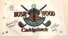 Caddyshack Signed Bushwood Country Club Golf Pin Flag Chase O'Keefe & Morgan