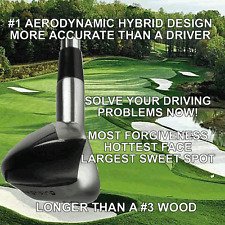#1 DRIVING ONE IRON WOOD HYBRID LONG DRIVER ANTI-SLICE GOLF CLUB GRAPHITE SHAFT