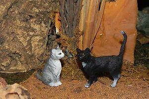 "Schleich Cat Figurines for 5"" Nativity Scene Miniature Kittens Pesebre Gatos"