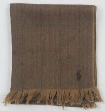 Polo Ralph Lauren Brown Wool Herringbone Scarf  NWT