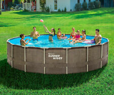 New Summer Waves Elite 18ft x 48 Above Ground Frame Swimming Pool | Ships Fast