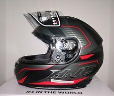 HJC CS-R3 Trion Motorcycle Helmet Semi Flat Black Gray Red XL Extra Large