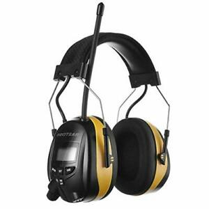 PROTEAR AM FM Radio Headphones, Hearing Protection Safety Earmuffs Stere Radio