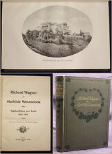Richard Wagner an Mathilde Wesendonk Tagebuchblätter & Briefe 1910 Literatur sf