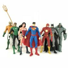 7 Pcs DC Justice League Superman Batman Flash Aquaman 18cm Action Figure Model