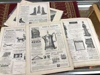 1879 Ephemera Lg Lot Vintage Catalog Ads 60+Demorests monthly magazine nice