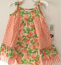Bonnie Jean Dress Baby Girl 24M Peach Flower New
