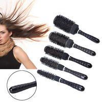 5 Sizes Ceramic Iron Round Comb Brush Barber Hairdressing Salon Styling Barrel