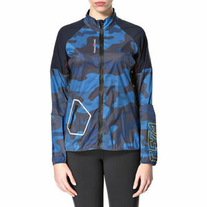 Reebok Crossfit Womens Small CF Feather Lightweight Blue Camo Jacket $125