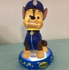 """8 3/4"""" PAW PATROL CHASE THE POLICE DOG NIGHT LIGHT LAMP ROOM DECOR TABLE FIGURE"""