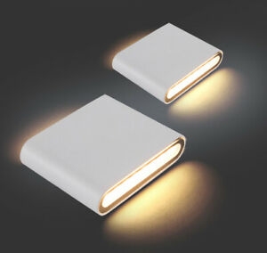 1/4/10x 6W 12W COB LED Wall Light Up Down Sconce Lamp Outdoor Light white /black