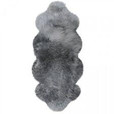 Lammfelle Australisches Lammfell aus 1 1/2 Fellen Grau ca. 140 x 68 cm Rund