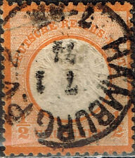 Germany Coat of Arms classic stamp 1872 #16 Hamburg Postmark