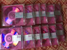 12 x MD TDK Lucir  MIX Minidisc 74 & 80min rot  (8)