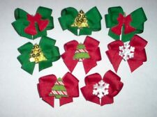 DBL LPD Decorated  Christmas Dog Bows Yorkie Poodle Shih tzu Dog Grooming Bows