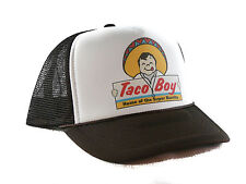 Vintage Taco Boy Trucker Hat mesh hat snapback hat brown NEW