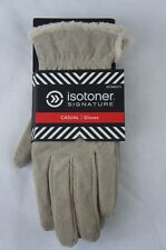 ISOTONER Signature Women's Genuine Casual Leather Gloves One Size Camel Beige