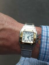 Cartier Santos de Cartier Quartz Swiss 987901  189292 Watch Blue Sapphire W/Case