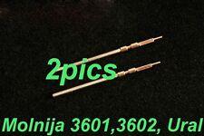 2X Winding stem for pocket watch Molnija 3601, 3602, 3603 Molniya, Ural 1.2mm