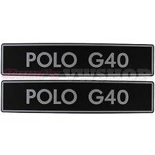 Original ALTE VERSION Polo G40 Kennzeichenplatten VW Händler, NEU! RAR!