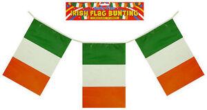 12ft Irish St Patricks Day Bunting Eire Flags Ireland Irish Party Decoration
