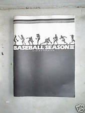 Baseball the Season Ii Arcade Game Owners Manual Look