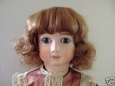 PERRUQUE pour POUPEE ANCIENNE T4 (24cm) -DOLL WIG-Bouclée - Human Hair Doll Wigs