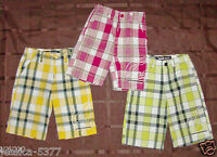 ECKO UNLTD BOYS SHORTS Size 2T , 3T or 4T Plaid Red, Yellow or Green NWT