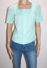 CELIA LOE Designer Green Short Sleeve Blouse Top Size 8-XS BNWT #SC126