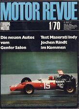 Motor Revue January 1970 Maserati German Auto Magazine 051617nonDBE