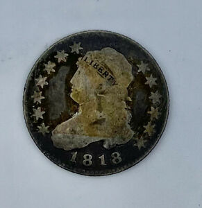 1818 Capped Bust 25c (Quarter) Good Condition