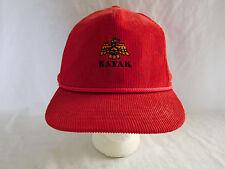 Vintage Kayak Point Golf Course Corduroy Baseball Cap Hat WA Stanwood