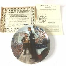 Vintage 1987 Knowles The Lincoln-Douglas Debates Collector Numbered Plate Coa