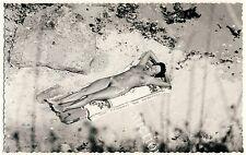 Nudism WOMAN'S SUNBATH HIDDEN CAM NACKTE FRAU SONNT SICH FKK * Vintage 60s Photo