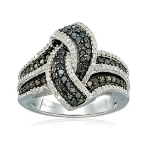 Gorgeous Women 925 Silver Rings Black Sapphire Wedding Jewelry Gift Size 6-10