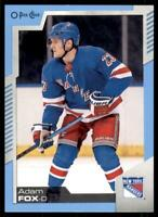 2020-21 UD O-Pee-Chee Blue Border #471 Adam Fox - New York Rangers