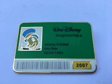 WDI Exclusive ~ I.D. Badge Series 2007 Jiminy Cricket Pin ~  LE300