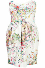 Topshop Spring Meadow Print Tulip Bandeau Dress UK 4 - 6 EURO 34 - 36 US 0 - 2