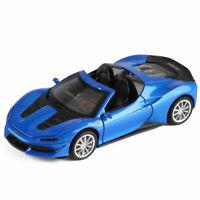 Ferrari J50 Sports Car 1:32 Scale Model Metal Diecast Gift Toy Vehicle Kids Blue