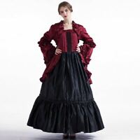 Gothic Women Party Cosutme Dress Vintage Victorian Puff Sleeve Ball Gown Dress