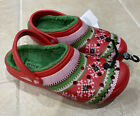 Crocs Classic Printed Lined Clogs Christmas UGLY SWEATER 205857-6EN Mn 10/ Wm 12