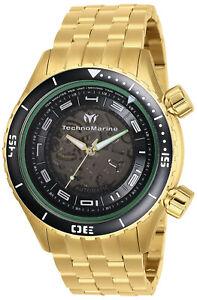 TechnoMarine Men's Manta TM-218012 47mm Black Dial Stainless Steel Watch