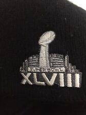 NFL Super Bowl XLVIII Men's Beanie Black Excellent Condition