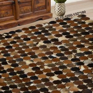 Modern floor rugs patchwork cowhide rug Bohemian new rugs online AU 10-72