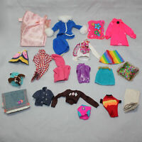Lot of 20 Barbie Doll Clothes Shirts, Pieces, Pants, Hats, Dresses CF01341